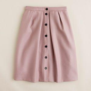 J Crew Flare Skirt in Double Serge Wool